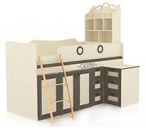 """Кровать комбинированная со столом """"Калипсо Сономе Эйч"""""""